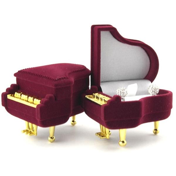 New Piano Ring Box Earring Pendant Jewelry Treasure Gift Case Wedding*