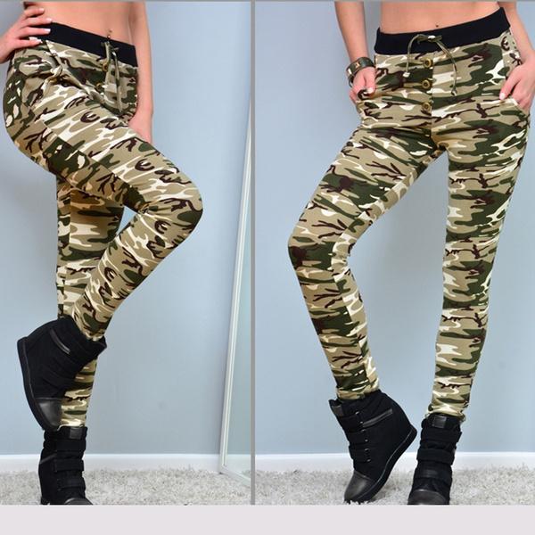 dc2ec9880905 Wish   Hot Women s Camouflage Skinny Leggings Stretch Slim Leggings Pencil  Pants Trousers