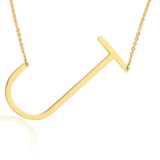 Necklacesjewelry accessoriesenjoyours shopping cheap quality fashion letter necklaces pendants alfabet initial necklace 24k gold stainless steel choker necklace women jewelry kolye collierec0121145 mozeypictures Images