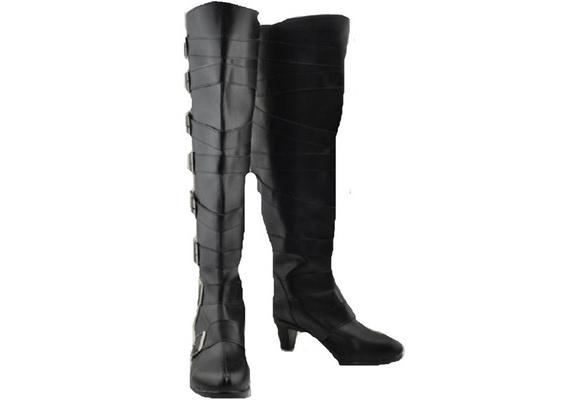 Black Butler Kuroshitsuji Undertaker Cosplay Costume Boots Boot Shoes Shoe
