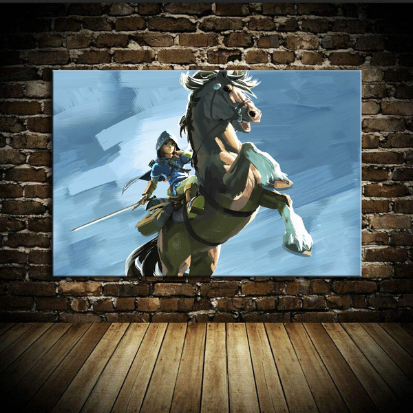 Wish | UNFRAMED The Legend Of Zelda Breath Of The Wild Link Riding Horse  Oil Painting For Room Background Decoration High Definition Action Game The  Legend ...