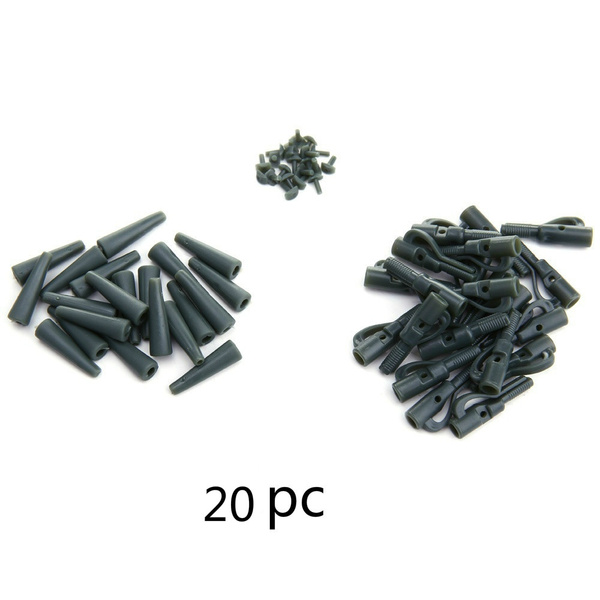 20 Sets Safety  with Pins Tail Rubber Tubes Carp Fishing Tackle