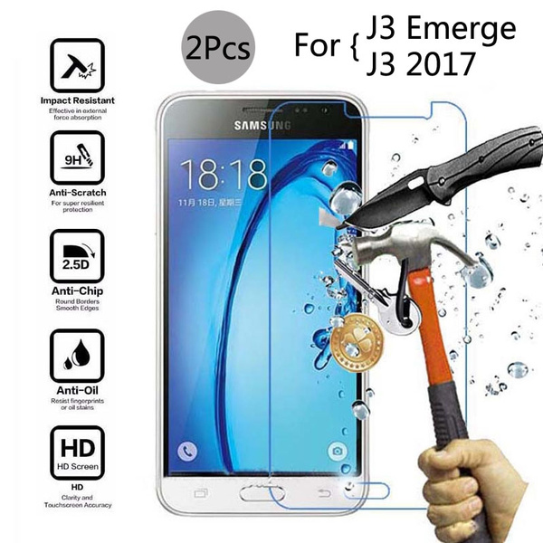 Samsung Galaxy J3 Prime 2017 Cases, Covers & Skins Cell Phone Accessories Premium Real Tempered Glass Screen Protector Film