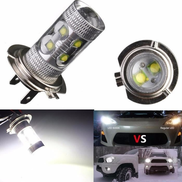 H7 all in one high powered led cree Kit Ampoules Phare foglight lumineux 2000lm