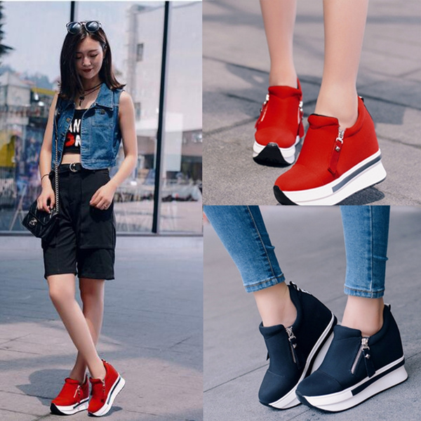 Picture of Casual Women Sneaker Comfortable Shoes Ankle Boots Women Flats Shoe