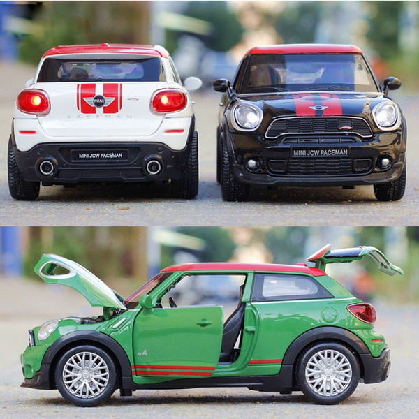 Mini Cooper Car Model Pull Back Diecast Alloy Electronic Car Toy for Children