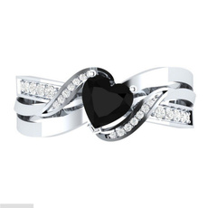 White Gold, Heart, DIAMOND, wedding ring