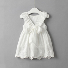 cute, bowknotdres, kids clothing, Dress