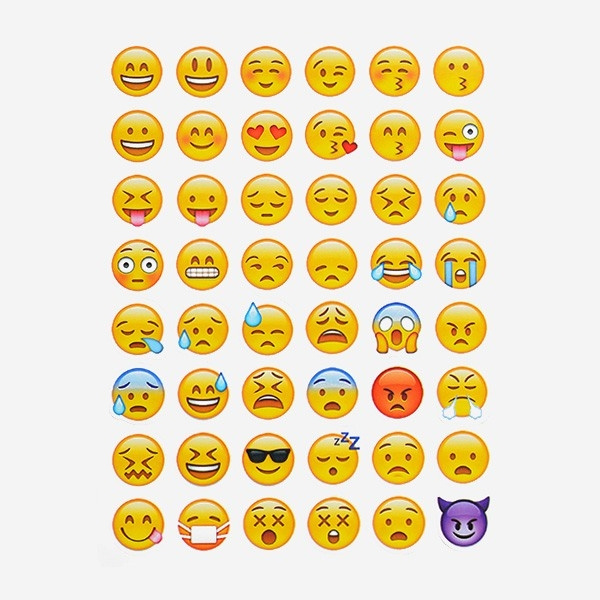 19 sheets 912 stickers hot popular sticker Emoji Smile kiss face for  notebook, laptop message Twitter Large Viny Instagram