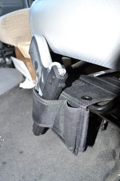 Wish   Tactical Concealed Under Car Seat Pistol Holster Wall Mount ...