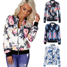 casual coat, Fashion, Floral print, fashion jacket