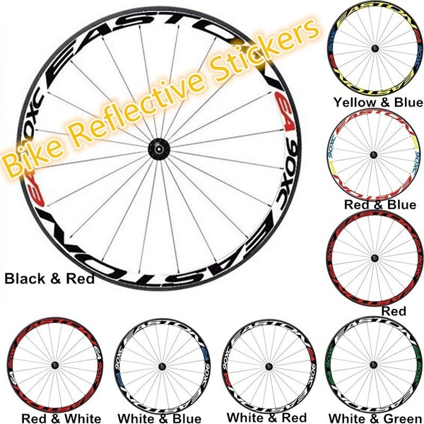 MOUNTAIN BIKE ROAD BICYCLE RIM YELLOW REFLECTIVE STRIPE WHEEL DECAL TAPE STICKER