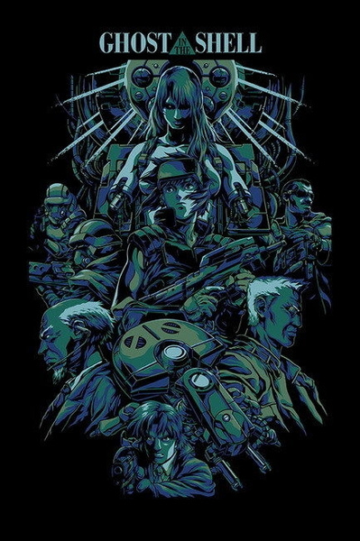 040 Ghost In The Shell Mobile Armored Riot Police Anime 14 X21 Poster Geek