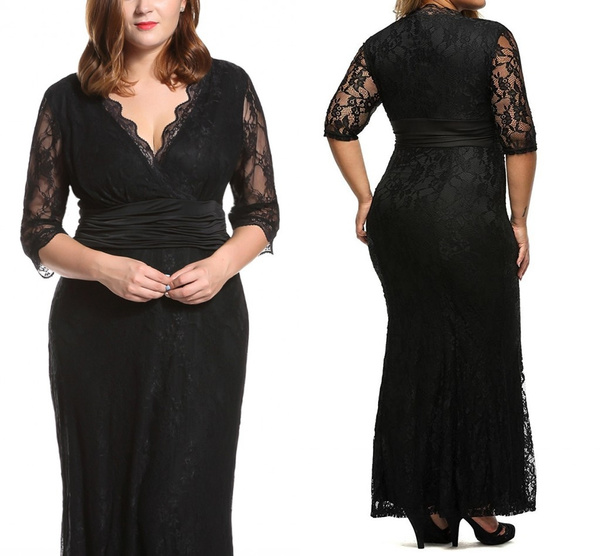 Classic Black Maternity Evening Gowns Formal Dresses Plus Size For Elegant  Women