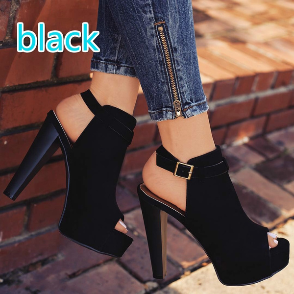 Picture of Summer High Heel Hollow-out Shoes Casual Sexy Pump Party Shoes Sandals Club Wear Shoes