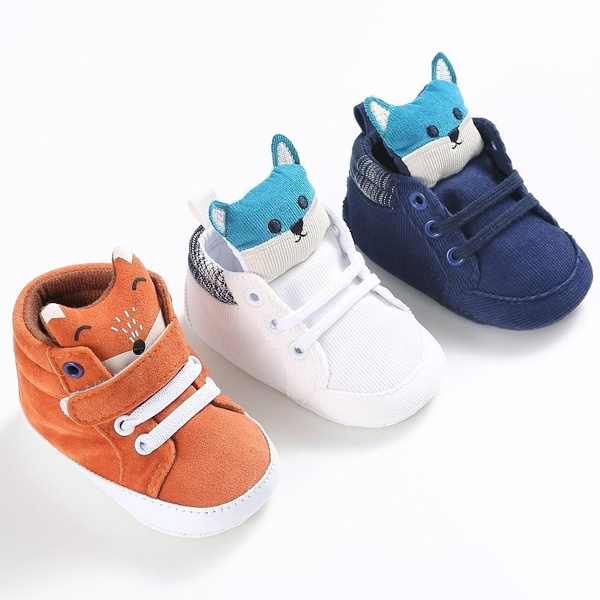 Baby Boys Girls Casual Cotton Shoes High Heel Animal Style shoes