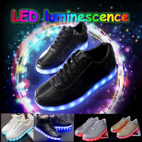 Picture of Colorful Light Shoes Shoes Led Fluorescent Luminous Shoe Lovers Shoes Korean Tide Mvfpmhxbbb Usb Charging Light Shoes