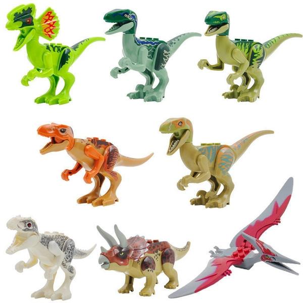 8Pcs Kids Building Blocks Park Dinosaur Toys Dinosaur