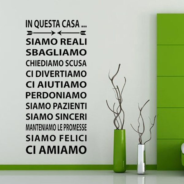 Adesivi Murali Low Cost.Wall Sticker Adesivi Murali Adesivo Murale Frasi In Questa Casa