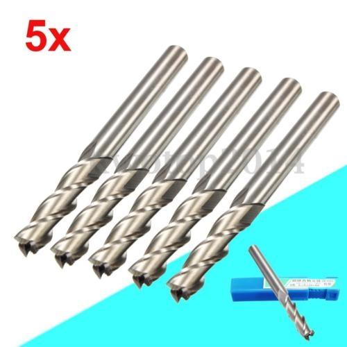5x Extra Long 6mm 3 Flute HSS /& Aluminium End Mill Cutter CNC Bit Extended Tools