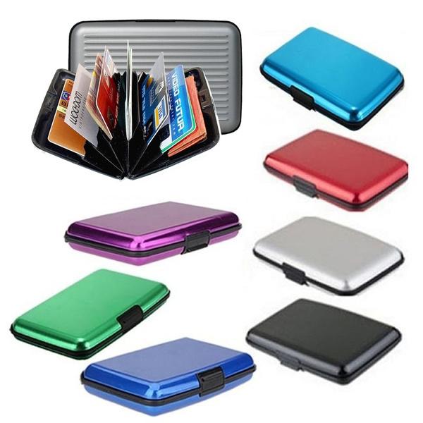 Picture of Aluminium Mehrfarbige Tasche Wasserdichte Brieftasche Business Id Kreditkarte Geldbrse Cash Holder
