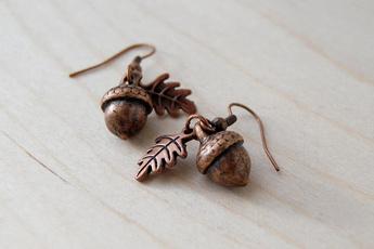 monogram, Copper, sistersbirthdaygift, Earring