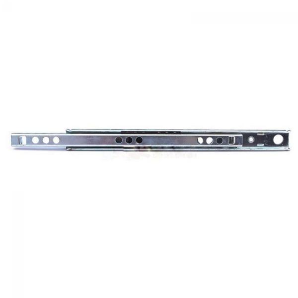 2 Pcs Tool Home Cabinet Steel Ball Bearing Metal Drawer Slide Telescopic