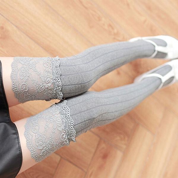 b46f77e4d 1 Sexy Women Stovepipe Socks Cotton Stocking Long Socks Spring Autumn  Winter Warm High Tube Socks Knee-high Socks Over Knee Stockings Non-slip  Stockings | ...