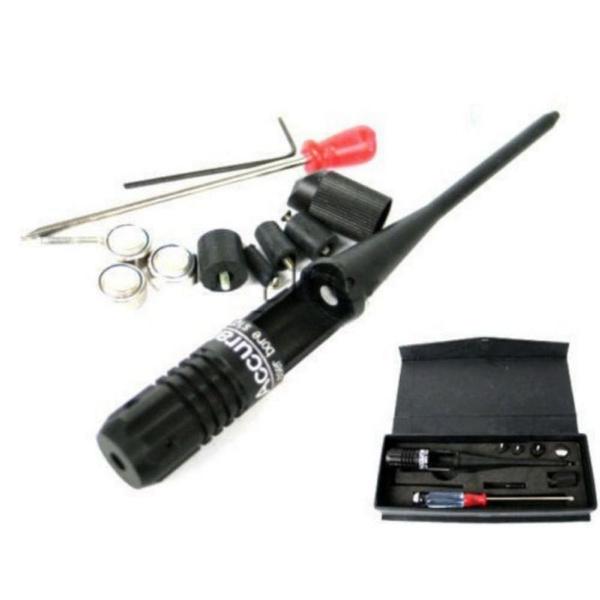 Red Laser Bore Sighter for .22 to .50 Shooting Caliber Rifles Handgun 3xAG13 kit