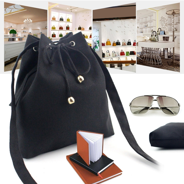 Picture of On Sale Women Fashion Canvas Drawstring Handbag Shoulder Bag Large Tote Ladies Purse