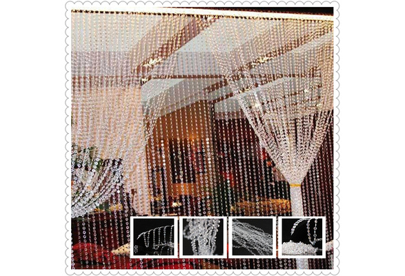 10M Diamond Strand Acrylic Crystal Bead Curtain Wedding DIY Party Craft Decor