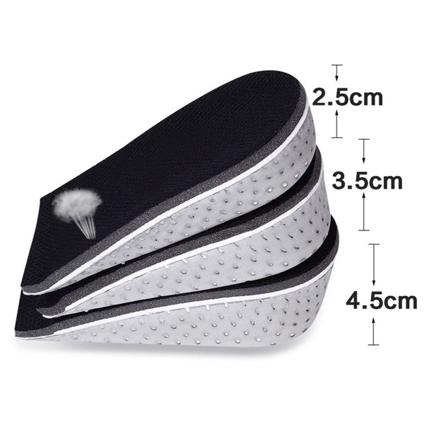 Unisex Men Foam Memory Lift Heel Increase Insoles Cushion Height Shoes Pad
