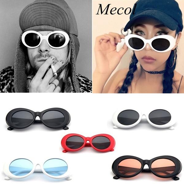 e7822b9b595ac 2017 Fashion Women Oval Sunglasses NIRVANA Kurt Cobain Sunglasses ...