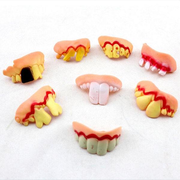 April Fool's Day Tricky Funny Rubber Fake Halloween Costume False Teeth  Dentures Funny Goofy