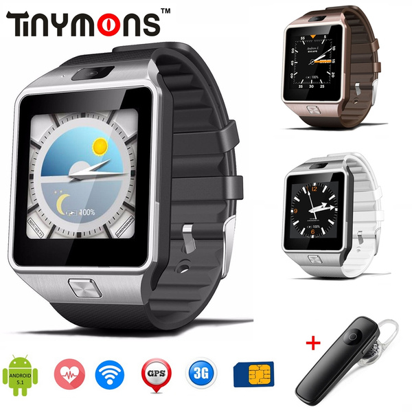 Picture of Bluetooth Smart Watch Qw09 Android 4.42 Mtk6572 Dual-core 1.2ghz Rom 4g 3g Wifi Pedometer Sim Card Call Wrist Watch Upgrade
