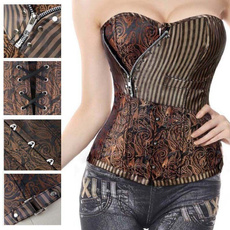 corset top, brown, Fashion, Lace