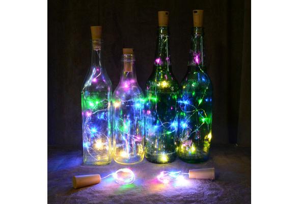 Wine Bottle Cork Lights Copper Wire String Lights for Wedding Festival Party Decor