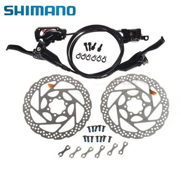 Front /& Rear Shimano M445 BL-M445 BR-M446 MTB Hydraulic Bike Brake Set