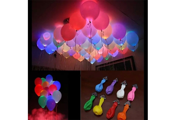 10pcs LED Balloon Light balloon 12 Inches Latex Multicolor Helium Balloon Christmas Hollween Decor Wedding Party ballon led ball