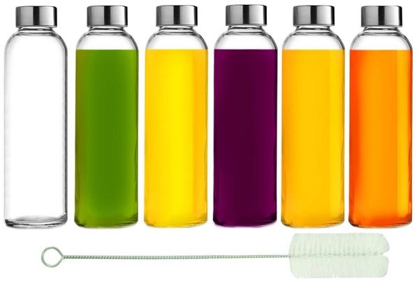 Water Bottles Plastic Stainless Steel Leak Proof Lid Drinking Bottle Sauce Jar