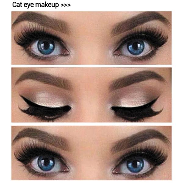 Picture of Lanbena Fashion Eyeliner Template Eyeliner Card Stencil Eye Tools Eye Liner 10pcs Makeup Brushes Set Size 10pcs