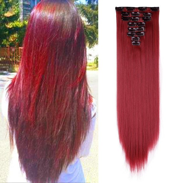 Wish Stylish Clip In Hair Extension Wig Real Ly Natural 8pcs