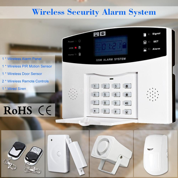 Picture of Wireless Home Security Alarm System Gsm Alarm Security System Keyboard Sensor Sms Dialing