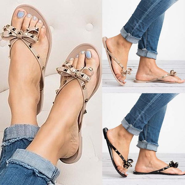 Picture of New Fashion Valencia Studded Bow Jelly Women Sandals