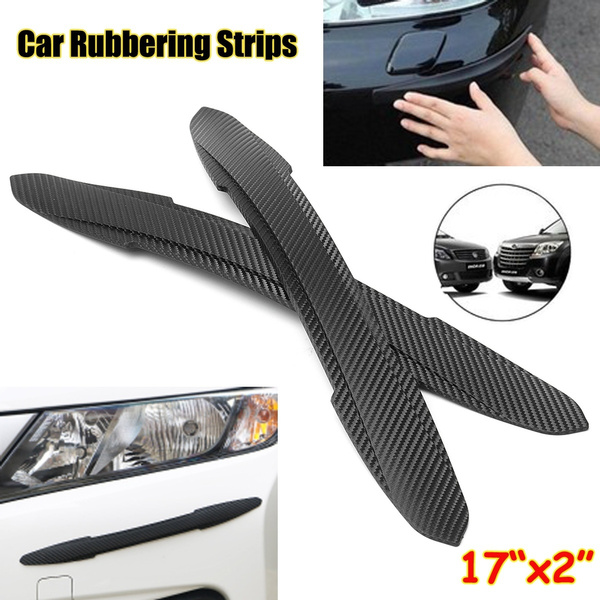 2x Car Auto Rubber Front Rear Bumper Edge Guard Protector Scratch Sticker Strips