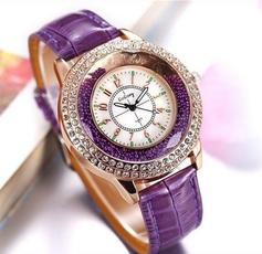 Fashion, rhinestonewatch, leather, Watch