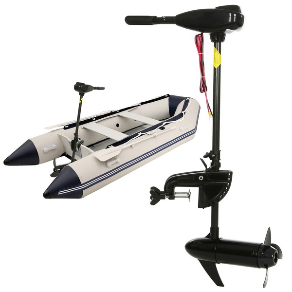 Hot!!!Ancheer Black 12V 46 Pound Thrust Ship Boat Electric Trolling Motor  Hand Control