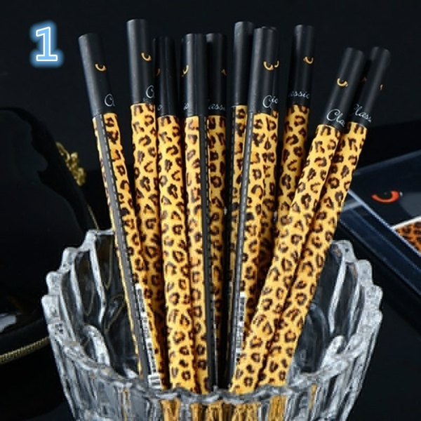 Wish Creative Fashion Leopard Print Cover Gel Pen Diario Writing Roller Lovely Fur 0 38mm Neutral Pens Office Material School Supplies Tools