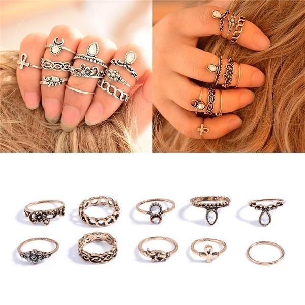 cadeaux, fashion ring, anneauxpunk, ensembledebijoux