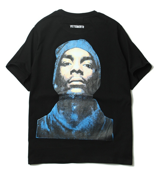 68ed0af23fd17 Men's Fashion Vetements Black Snoop Dogg T Shirt Summer Short Sleeve ...
